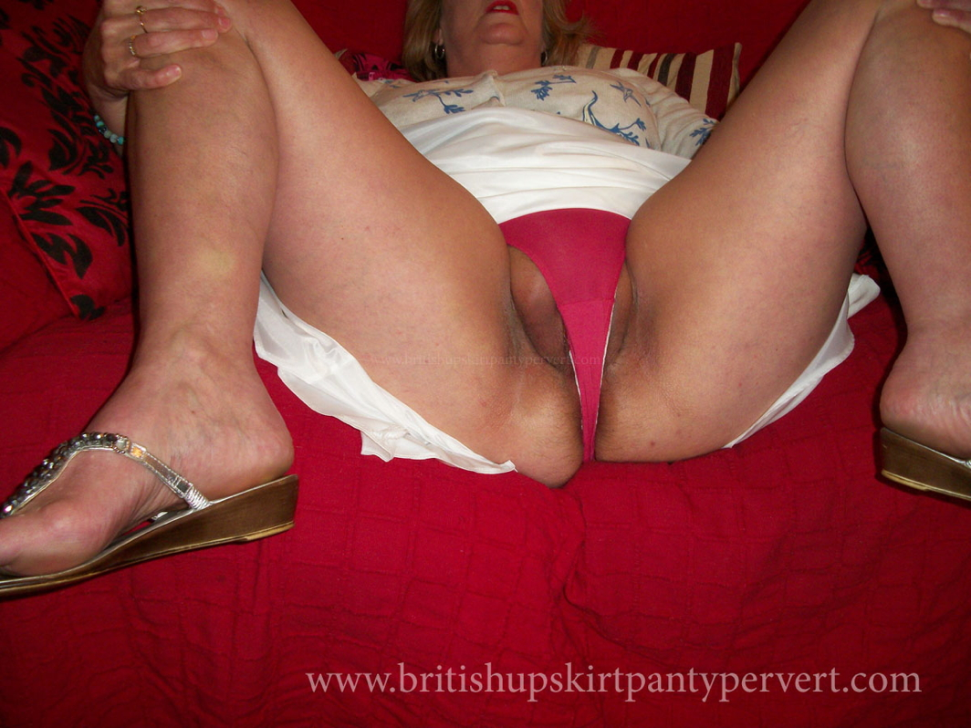 Mature fucked in panties